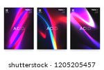 abstract vivid colorful a4... | Shutterstock .eps vector #1205205457