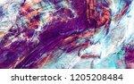 bright artistic splashes....   Shutterstock . vector #1205208484