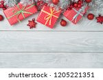 christmas holiday background... | Shutterstock . vector #1205221351