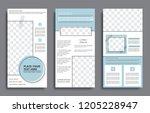 instagram stories template...   Shutterstock .eps vector #1205228947