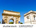 the porte du peyrou  1693  is a ... | Shutterstock . vector #1205229517