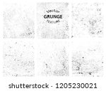 set of grunge textures.vector... | Shutterstock .eps vector #1205230021