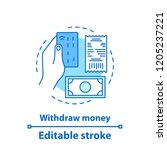 withdraw money concept icon....   Shutterstock .eps vector #1205237221