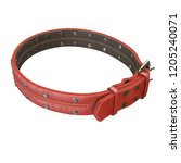 doggy leather collar on an... | Shutterstock . vector #1205240071