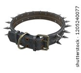 doggy leather collar on an... | Shutterstock . vector #1205240077