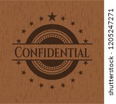 confidential realistic wood... | Shutterstock .eps vector #1205247271