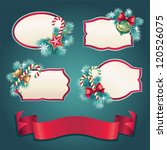 christmas vintage banner set... | Shutterstock .eps vector #120526075