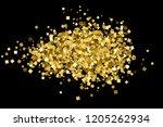 gold glitter texture isolated... | Shutterstock . vector #1205262934