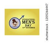 greeting card for international ... | Shutterstock .eps vector #1205266447