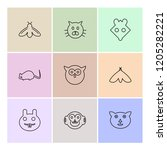 set of 9 icons  for web ...   Shutterstock .eps vector #1205282221