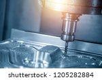 the cnc milling machine cutting ... | Shutterstock . vector #1205282884