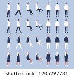 set of flat vector characters... | Shutterstock .eps vector #1205297731