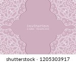 invitation or card template... | Shutterstock .eps vector #1205303917
