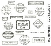 black grunge stamps big set... | Shutterstock .eps vector #1205310184