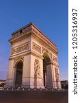 the triumphal arch is one of... | Shutterstock . vector #1205316937