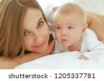 mom and baby  | Shutterstock . vector #1205337781