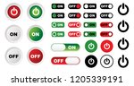 turn off and on button set... | Shutterstock .eps vector #1205339191