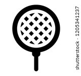 a strainer for straining and... | Shutterstock .eps vector #1205341237
