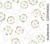dandelion blowing plant vector...   Shutterstock .eps vector #1205346061