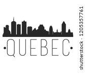 quebec canada skyline... | Shutterstock .eps vector #1205357761