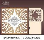 die laser cut wedding card... | Shutterstock .eps vector #1205359201