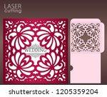 die laser cut wedding card... | Shutterstock .eps vector #1205359204