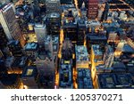 aerial view of chicago downtown ... | Shutterstock . vector #1205370271