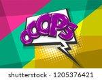 omg ouch oops comic text speech ...   Shutterstock .eps vector #1205376421
