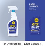 bottle label  package template... | Shutterstock .eps vector #1205380084