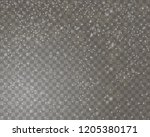 falling snow on a transparent... | Shutterstock .eps vector #1205380171