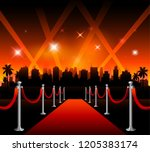 now showing theater movie... | Shutterstock .eps vector #1205383174