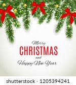 merry christmas and new year... | Shutterstock . vector #1205394241