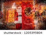 christmas concept. portrait of... | Shutterstock . vector #1205395804