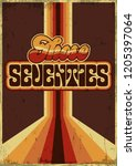 those seventies. vector vintage ... | Shutterstock .eps vector #1205397064