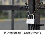 Prison Gate Locked Chain....