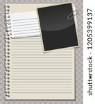 blank papers  paper notes and... | Shutterstock .eps vector #1205399137