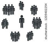 people icon set in trendy flat... | Shutterstock .eps vector #1205402254