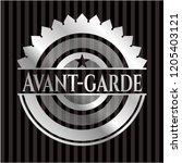 avant garde silver shiny badge   Shutterstock .eps vector #1205403121