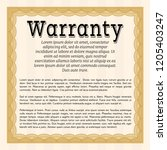 orange warranty certificate... | Shutterstock .eps vector #1205403247