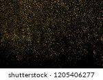 gold glitter texture isolated... | Shutterstock . vector #1205406277