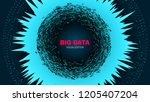 abstract poster with depth of... | Shutterstock .eps vector #1205407204