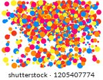 colorful explosion of confetti. ... | Shutterstock . vector #1205407774