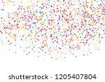 colorful explosion of confetti. ... | Shutterstock . vector #1205407804