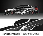 racing car wrap design vector.... | Shutterstock .eps vector #1205419951