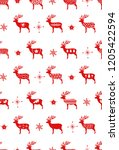red simple christmas deer for...   Shutterstock .eps vector #1205422594