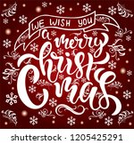 hand sketched we wish you a... | Shutterstock .eps vector #1205425291