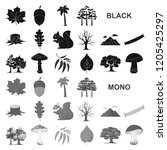 forest and nature black icons... | Shutterstock .eps vector #1205425297