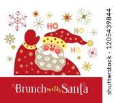 fun seasonal poster. cartoon... | Shutterstock .eps vector #1205439844