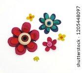 set of several multicolored... | Shutterstock . vector #1205448097