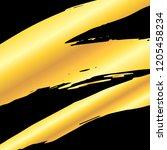 golden artistic grunge brush... | Shutterstock .eps vector #1205458234